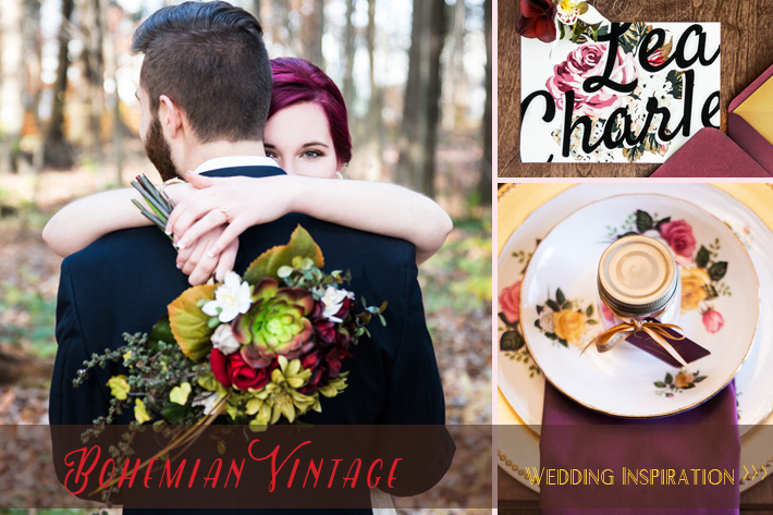 Bohemian Vintage, Hipster wedding style ideas