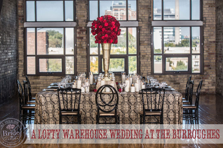 Urban, Loft, Warehouse wedding style in the Burroughes Building in Toronto