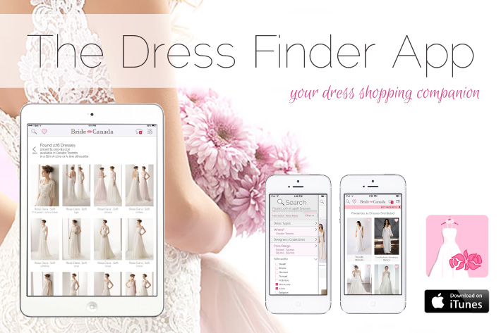The Dress Finder App from Bride.Canada
