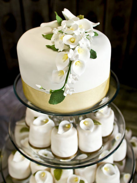White Vangie Wedding Cake