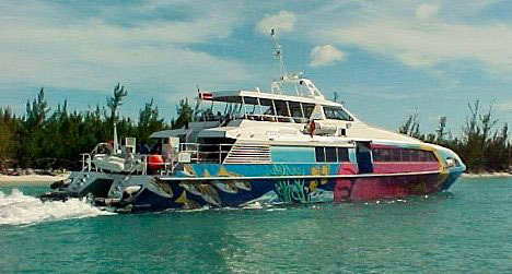 Honeymoon Travel in the Bahamas: Fast Ferry