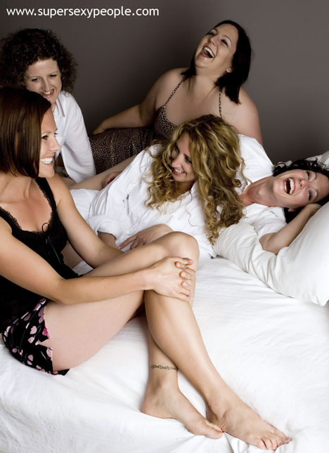 A fun frisky bachelorette pose