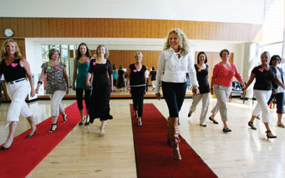 Aisle-walk training for the bride and bridesmaids