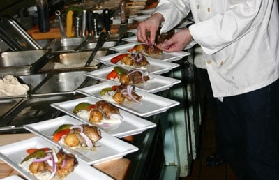 Food sampling restaurant tour bachelorette