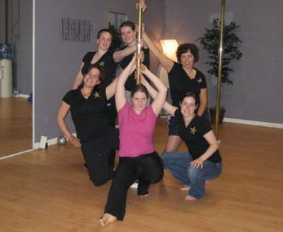 Pole dancing party for your stagette