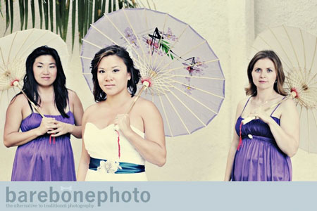 Beautiful Bride & bridesmaids. Lisa, in Mexico 2009