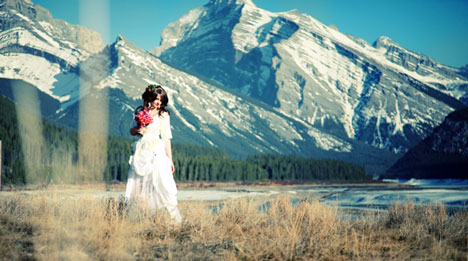 Beautiful Canadian Bride: Kristina, in Banff (Kyla Mae Wedding Photography, Calgary, Alberta)