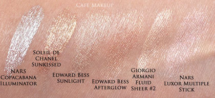 wedding makeup foundation illuminators swatch