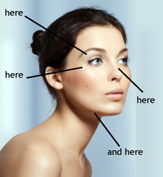 Guide: where to highlight to your makeup
