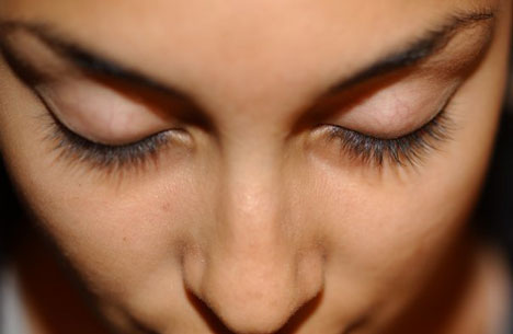Before eyelash extensions
