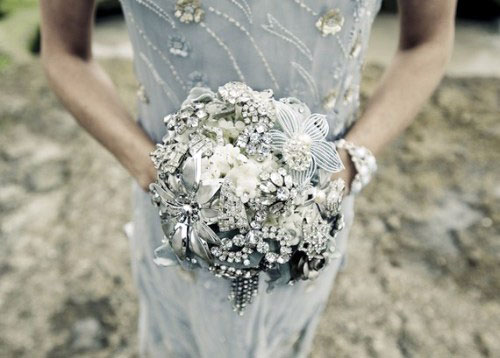 A NonFloral bridal bouquet