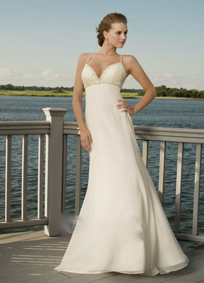 Beach wedding dress from Joanna 39s Bridal Montr al Canada