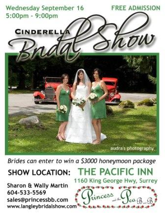 Cinderella Bridal Show, Vancouver / Surrey / Langley, Sept 16th 2009
