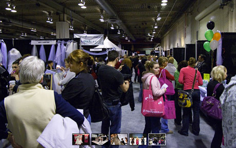 Brides, at the 2010 wedding fair / bridal fair, Calgary