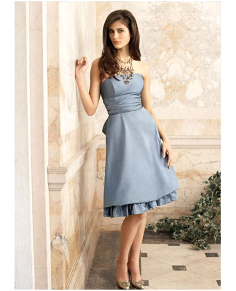 Lazaro, gray bridesmaids dress
