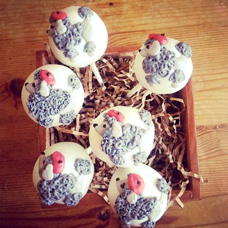 Poodle custom cake pops