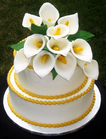 Calla lily, edible flower wedding caketopper