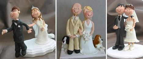 Custom wedding cake toppers: personalised
