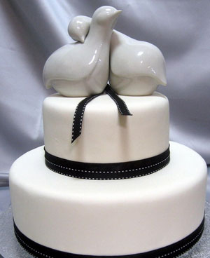 Wedding Cake Topper: Love birds