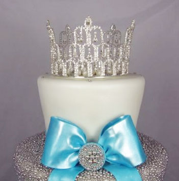 Wedding Cake Topper: crystal tiara