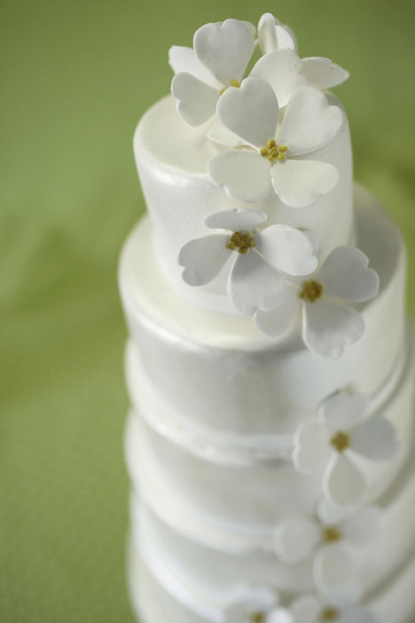 White Satin Wedding Cake