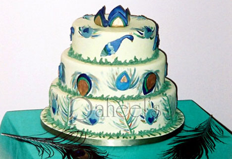 Award Winning 'Proud as a Peacock' Wedding Cake Design