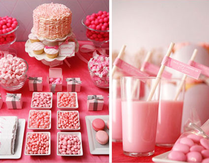 Pink millkshakes for your wedding!