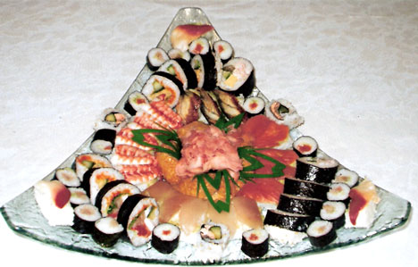 Tiffaney's, wedding sushi!