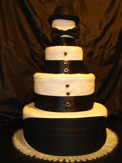 4tier wedding towel cake 4Tier Groom 39s Towel Cake
