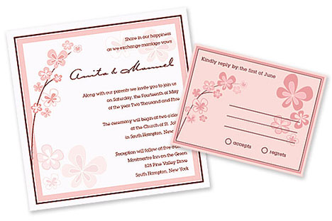 Get online This Cherry Blossom invitation package starts at 13250