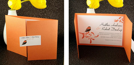 Bride contemporary wedding invitations look at these ones too a matched set for the bridal party stopboris Images