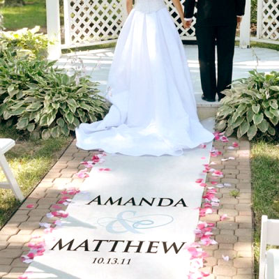 personalized aisle runner for wedding