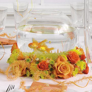 Fish Bowl wedding Centrepiece