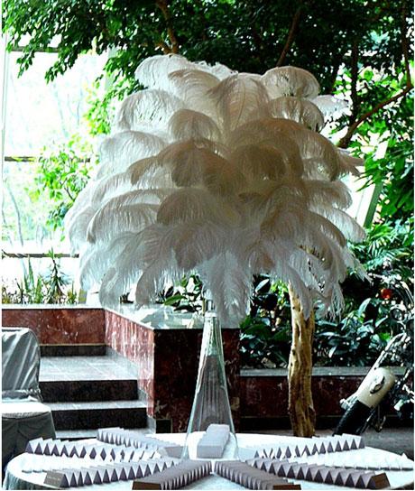 Ostrich Feathers Ostrichfeather wedding centerpieces