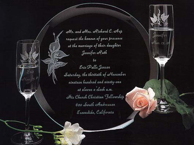 wedding glass etching