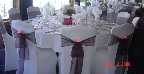 Bride Ca Wedding Reception Decor Chair Covers 101