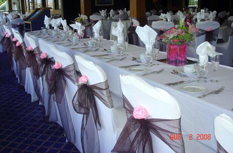 Bride Ca Wedding Reception Decor Chair Covers 101