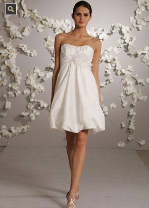 Short Wedding Dress, for a destination wedding, by JLM Coutures' Bluch line