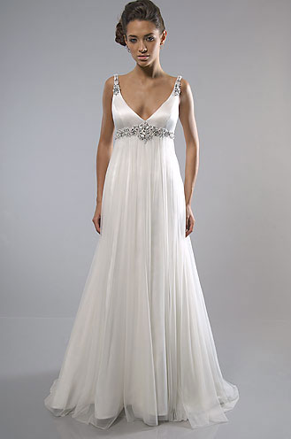 Beach Wedding Dress: Alfred Sun 7088