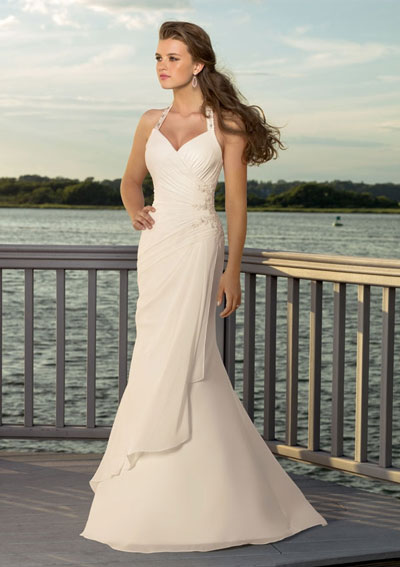 Beach Wedding Gown: Mori Lee