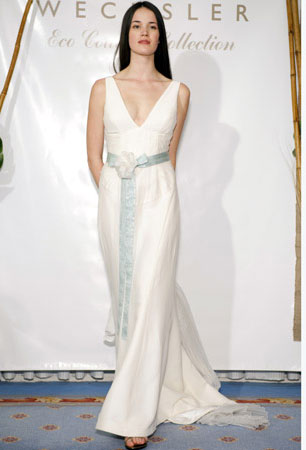 Simple Wedding Dresses in Canada, 2010: Adele Wechsler Eco Couture
