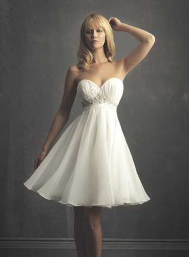 Short wedding dress photos