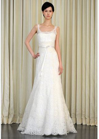 Lovely Lace Simple Wedding Dresses in Canada 2010 Monique Lhuillier