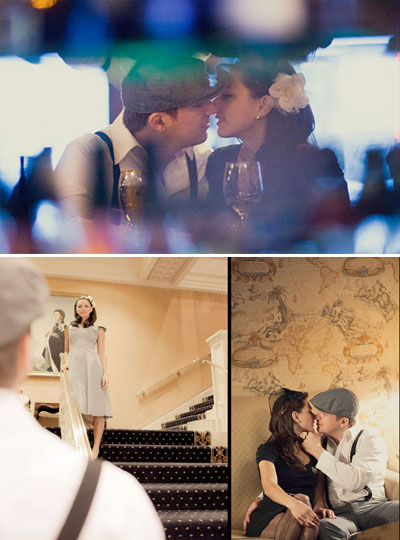 themed engagement photograps : movie titanic