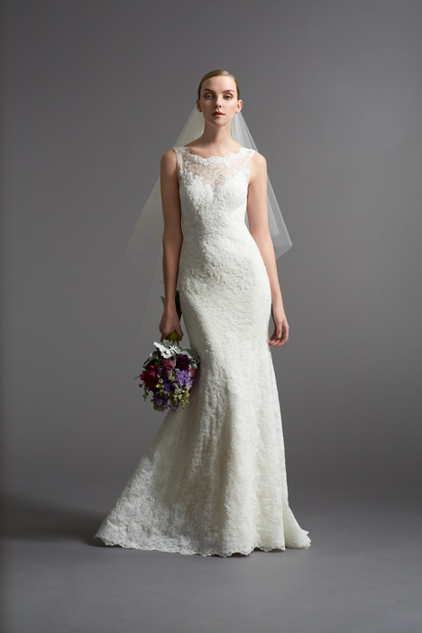 Wedding dress with bateau neckline. Style Tomasina by Watters Brides.