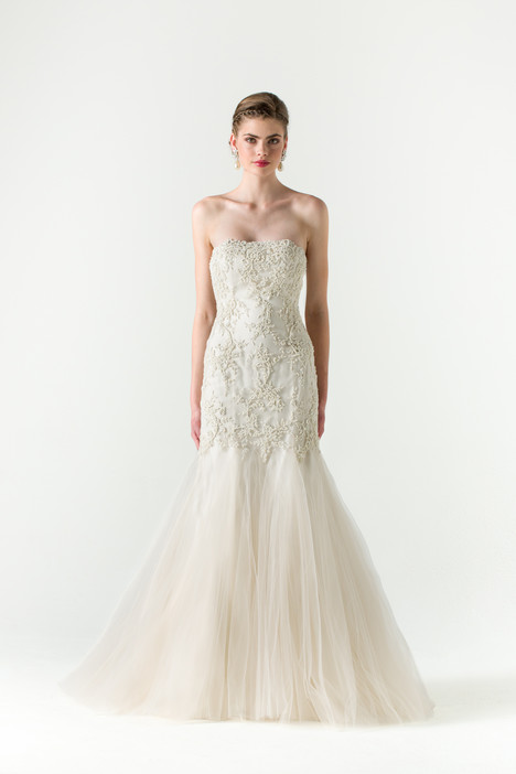 Wedding dress with straight neckline. Style Divine by Anne Barge.