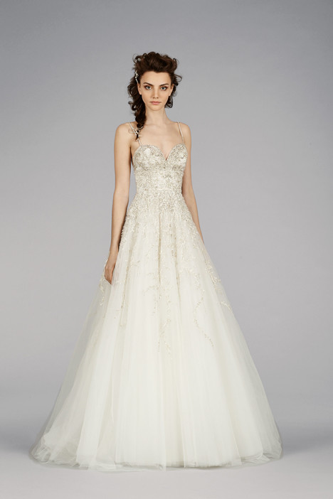 Wedding dress with surplice (
