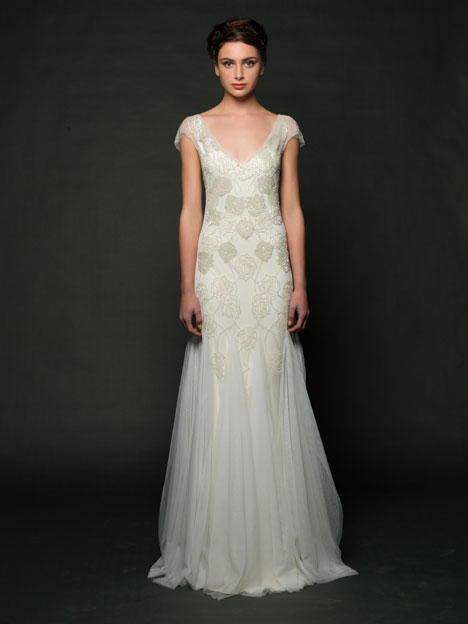 Wedding dress with tank neckline. Style Dulce by Sarah Janks.