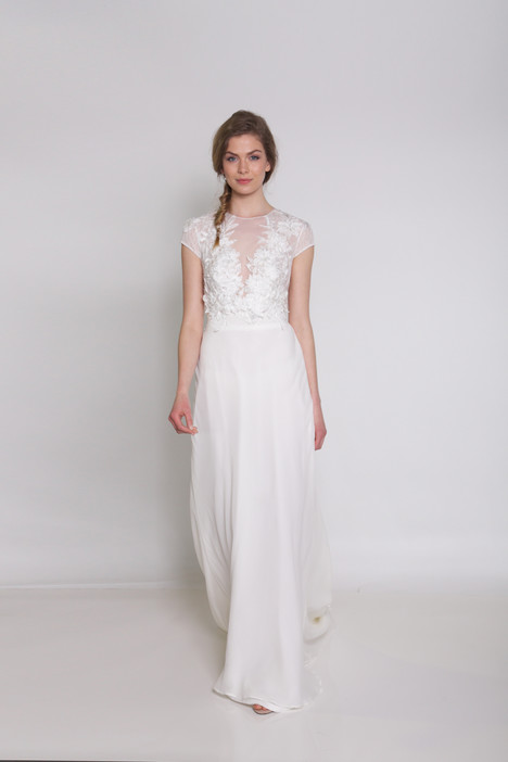 Slim A-line wedding dress Rose Garden by Ivy and Aster