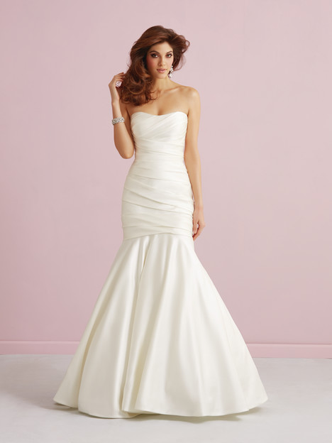 Fit and flare wedding dress style 2752 by Allure Romance